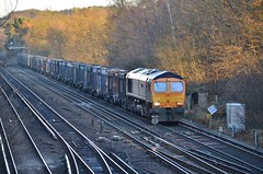 66728 (stavioni) Tags: train diesel shed railway freight farnborough class66 gbrf 66728
