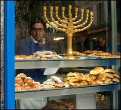 Kosher croissants - DSC09651a (normko) Tags: food paris france le bakery jewish quarter kosher marais boulangerie menorah croissants
