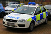 Northamptonshire Police Ford Focus Incident Response Vehicle (PFB-999) Tags: ford car northampton focus northamptonshire police headquarters vehicle hq irv beacons incident northants hatchback response unit lightbar rotators kx06okp