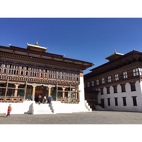 In the courtyard of Tashichhodzong.  #bhutan #thimphu #wanderlust #travel