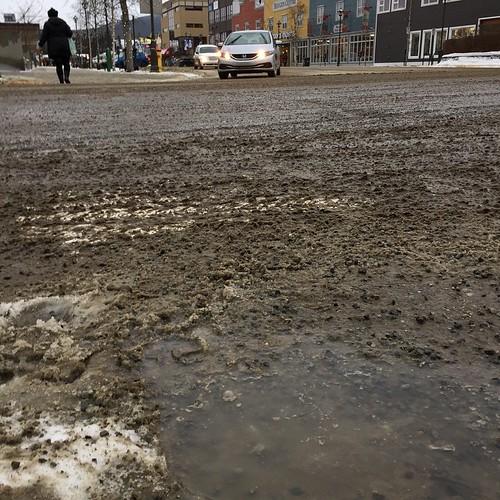 What the heck … rain in January!? #yxy #Yukon