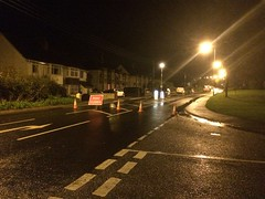 A376 Closed (Nathan Thorn) Tags: storm southwest flooding devon exeter roadclosed stagecoach exmouth a376