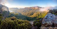 Dreamy Jamison Valley Panorama (Gary Hayes) Tags: neck bush sydney australia bluemountains narrow jamisonvalley