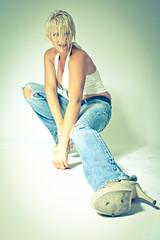 IMG_8752-2 (DirkP.) Tags: white highheels legs jeans pantyhose nylons hotpants backround