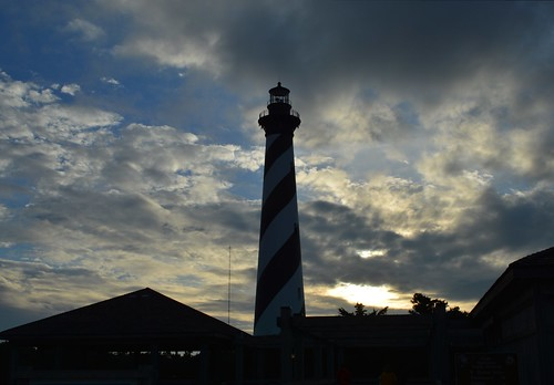 Hatteras Light Close to Sunset