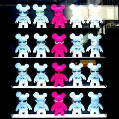 if i were a teddy bear... (panda.roo) Tags: bear pink white reflection window tokyo eyelashes teddy display shibuya shuuemura tokyu