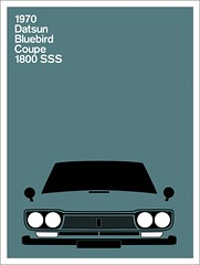 Print (Montague Projects) Tags: 1800 1970 bluebird coupe datsun japanesedesign carposter