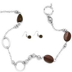 5th Avenue Brown Necklace P2320-1
