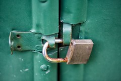Unlocked (jim.tavasci) Tags: macro green canon lock 100mm rusted padlock ef f28l canonef100mmf28lmacrois