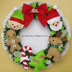Guirlanda Natalina   (M.Kuwahara) Tags: christmas natal felt guirlanda feltro guirlandadenatal marciakuwahara