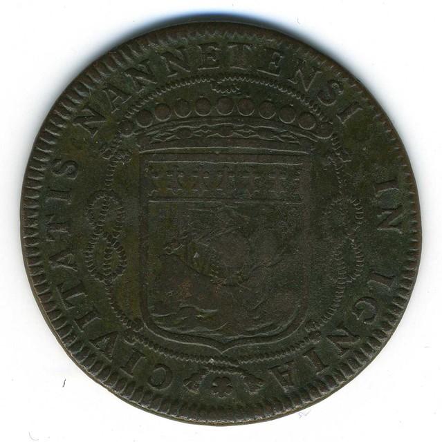 Jeton de Louis Macé, sieur de la Roche en Couffé (44), maire de Nantes, 1663 revers (photo : Gildas Salaün)