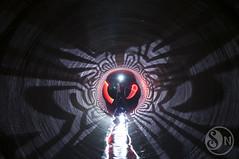 Dweller of the Underworld (Stimulight the Night) Tags: longexposure nightphotography lightpainting slowshutter projections lightart lightpaint longexposurephotography lightpainters lightartphotography lightpaintingphotography lightingthenight stimulightthenight projectorlightpainting
