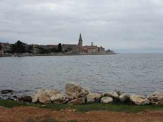 Waterfront, view to old town, Poreč, Croatia