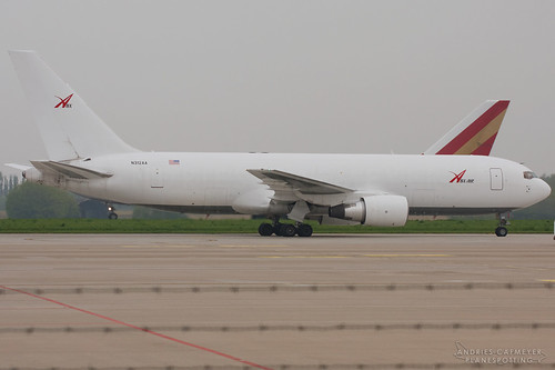 N312AA, Boeing 767-200F ABX Air, LGG