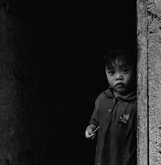 sneak (ketheory) Tags: portrait blackandwhite streets monochrome asian child photojournalism documentary story portraiture bnw