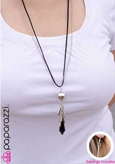 5th Avenue Black Necklace K3 P2130A-4