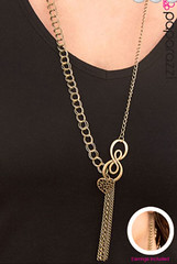 5th Avenue Brass Necklace K2 P2441-2