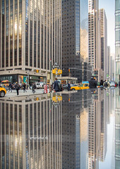 Manhattan. (arturii!) Tags: street city trip morning travel people urban usa newyork reflection building beauty architecture america wow mirror vanishingpoint office amazing nice interesting construction holidays tour skyscrapers traffic superb streetlights manhattan awesome great towers sunny business route stunning viatge vacations infinite impressive gettyimages routine diminishingperspective middtown compoition arturii arturdebattk canonoes6d