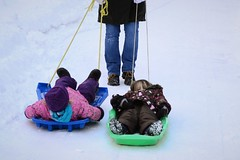 Getting a Ride Up the Hill (Vegan Butterfly) Tags: winter kids children fun outside pull together sledding sled homeschool pulling homeschooling