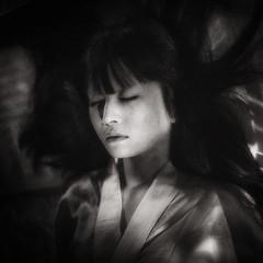 hypersomnia (TommyOshima) Tags: portrait blackandwhite girl monochrome japan japanese sleep haloearth