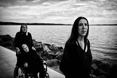 Fimmine (francesco_if ) Tags: street blackandwhite woman lake clouds nikon donne d3 biancoenero 1735