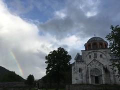 Rainbow and Studenica Monastery near Kraljevo, Serbia (Paul McClure DC) Tags: architecture rainbow serbia historic monastery balkans orthodox kraljevo studenica may2016