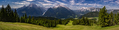 View to the Watzmann summit (Carsten aus MK) Tags: panorama mountains alps germany landscape bavaria berchtesgaden nationalpark outdoor panoramic berge watzmann panoramaphotography