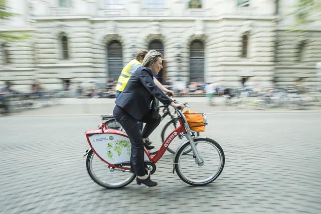 Cycling through Leipzig