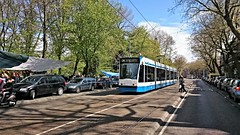 Trams op Koningsdag 19 (Peter ( phonepics only) Eijkman) Tags: city holland netherlands amsterdam transport nederland tram rail rails trams strassenbahn noordholland gvb streetcars combino nederlandse