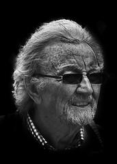 Portrait (D80_443269) (Itzick) Tags: man face blackbackground copenhagen denmark goatee glasses candid d800 bwportrait itzick