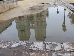 Underwater Notre Dame (PinoShot) Tags: paris france reflection rain puddle drops underwater notre dame pioggia parigi riflesso pozzanghera sottacqua