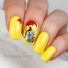 pikku_myy_kynnet_2 (-Yue) Tags: yellow approved freehand moomins acrylicpaint littlemy pikkumyy muumit