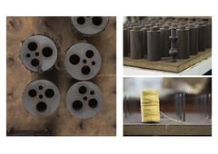 And Bobs (Callum Dickson Photography) Tags: wood abstract macro texture metal canon scotland nikon factory parts documentary canvas micro highkey 60mm bagpipes process kilmarnock mccallums