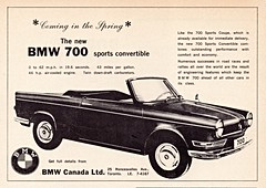 1962 BMW 700 Sports Convertible (Canada Ad) (aldenjewell) Tags: canada sports ad convertible bmw 700 1962