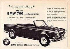 1962 BMW 700 Sports Convertible (Canada Ad) (aldenjewell) Tags: canada sports ad convertible bmw 700 1962