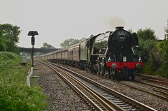 60103 Flying Scotsman passes Patchway during a light rain shower working 1Z72 Holyhead-London Paddington (82A Photography) Tags: west london station museum bristol ian riley coast flying tour br cathedrals engineering rail railway steam company national a3 paddington locomotive express scotsman the holyhead lner 4472 patchway 60103 wcrc 1z72