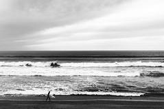 Anglet (mrjcrr) Tags: ocean city sunset sea sky blackandwhite sun mer white black france beach landscape roc surf view surfer wave blacknwhite paysage vague falaise plage vue rocher ville paysbasque sudouest anglet