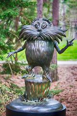 _DSC1583 The Lorax (Charles Bonham) Tags: trees sculpture grass garden drseuss childrensbook thelorax bronzesculpture midlandmi dowgardens childrensstories sonya7r charlesbonhamphotography sonyfe2890mmmacrogoss