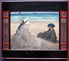 Edouard Manet - Sur la plage [On the Beach] 1873 (George M. Groutas) Tags: impressionism bercksurmer edouard manet musedorsay impressionists orsaymuseum edouardmanet impressionistsbythesea httpwwwmuseeorsayfren