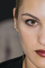 Girl Portrait (ioannouantreas1) Tags: red portrait people eye girl model lips