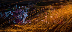Dead under fire (Xanadú) Tags: steelwool steelwoolspinners steelwoolphotography light lightpainting lightpainters fotografíanocturna nocturna fire fuego nocturnas noche sombras dead decadent deserted desolated decayed decay industrial grafitti churrasqueros
