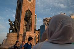 IST-1951 Monument Taksimplein (rose.vandepitte) Tags: people tourism monument colors turkey streetphotography streetlife streetscene istanbul taksim takingpictures