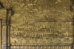 Gilded bas relief, Wat Mai temple (tmeallen) Tags: houses folklore story laos gilded epic luangprabang floraandfauna basrelief ramayana watmaitemple buddhareincarnation