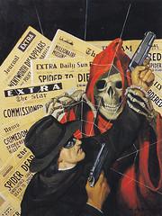 Robert Lesser / Pulp Art / Bild 31 (micky the pixel) Tags: art illustration painting buch skull book kunst pulp livre thespider pulpart robertlesser rafaeldesoto deathandthespider