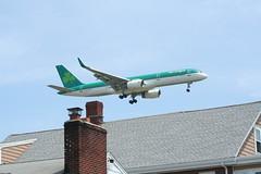 IMG_2507 (wmcgauran) Tags: boston airplane airport aircraft aviation boeing bos aerlingus 757 eastboston kbos eicjx