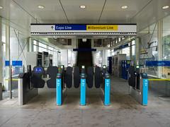 joyce station.compass fare gates.looking in (LS Lam) Tags: vancouver collingwood transit translink 2016 joycestation