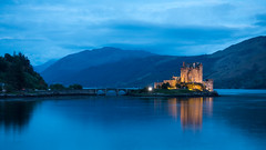 Eilean Donan Castle 1 (szipper66) Tags: castle scotland highlands eilean donan schottland blaue stunde