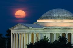 Summer Solstice Strawberry Moon at the Jefferson Memorial (Insite Image) Tags: nightphotography moon washingtondc dc districtofcolumbia nikon fullmoon bluehour jeffersonmemorial summersolstice tidalbasin strawberrymoon