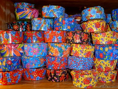 Marmitas/ Packed Lunch (nadia.veronica) Tags: colours fabric calico package chita packedlunch colorido embalagem