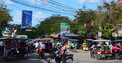 Siem Reap Streets (Isabel-Valero) Tags: city travel bike asia cambodia traffic siem reap tuktuk camboya siempreap
